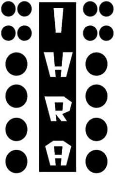 8 in Drag Racing Christmas Tree Vinyl Decal NHRA IHRA 6043