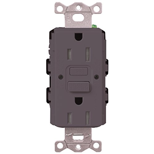 Lutron  SCR-20-GFST-PL  20-Amp  Tamper Resistant Self-Testing Receptacle, Plum -  Lutron Electronics Company, Inc.
