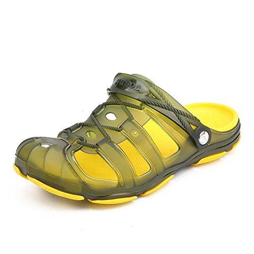 Gran De Zapatillas Chanclas Tamaño Transpirables Para Playa Verano Sandalias Translúcidas Green Antideslizantes Ywnc Hombre gqdUw8IU