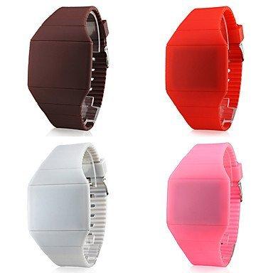 Unisex caucho Reloj de pulsera digital LED () colores surtidos: Amazon.es: Relojes