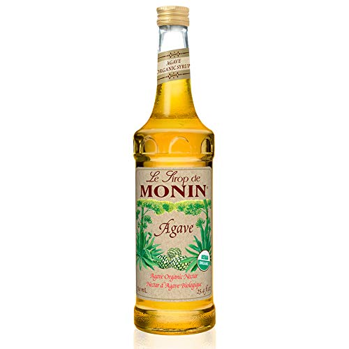 Monin - Organic Agave Syrup, Sweet and Full Flavor, Great for Any Beverage, Gluten-Free, Vegan, Non-GMO (750 ml) Certified Organic Agave Nectar