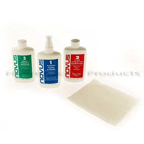 Plastic polish, Novus set of each 8 oz - Remover Polish Plastic And Scratch