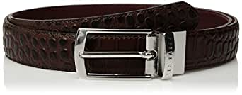 Ted Baker Men's Sunflow Leather Reversible Belt, Xchocolate, 40
