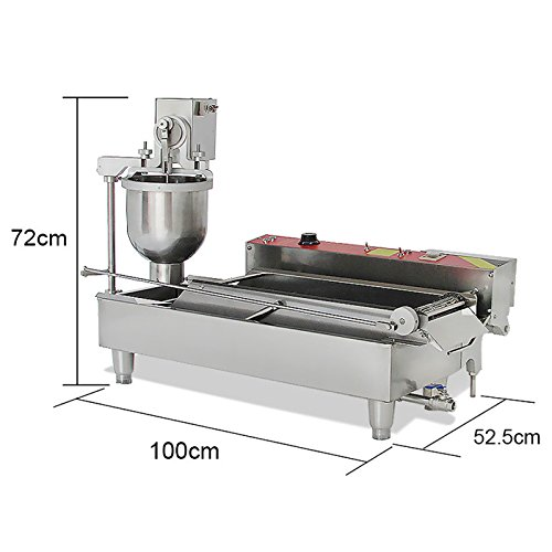 Genmine Automatic Donut Making Machine Commercial Electric Auto Doughnut Donut Maker Machine Auto Donuts Frying Molding Turning Collecting Fryer Factory 110V (Can Making 3 Sizes Donut) by Genmine (Image #3)