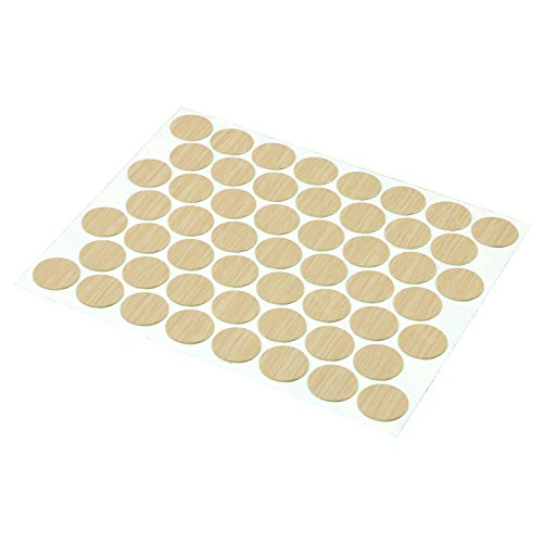 (Prime-Line Products KD 16083 Self Adhesive Smooth Plastic Screw Hole Covers (Pack of 53), Maple)