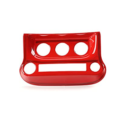 RT-TCZ Interior Accessories Air Conditioning Switch Panel Cover Trim for Jeep Wrangler 2011-2020(Red): Automotive
