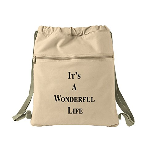It'S A Wonderful Life Canvas Dyed Sack Backpack Bag
