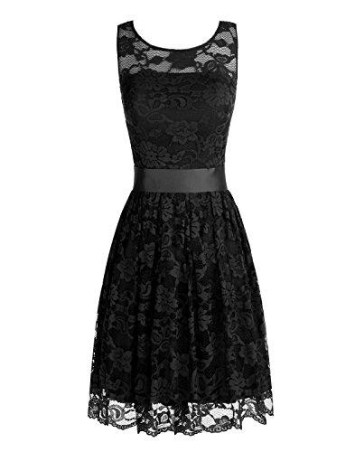 Wedtrend Women's Floral Lace Bridesmaids Dress Short Party Cocktail Dress