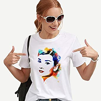 Yizhu Camiseta for Mujer Tendencia Camisa Blanca de Manga ...
