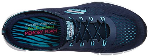 Bleu Basses nvaq Harmony Glider Femme Baskets Skechers xCwYtXq4CB