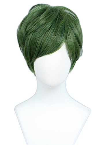 Linfairy Short Straight Cosplay Wig Halloween Costume Wig -