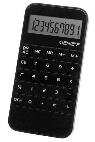 Genie 40W - Calcolatrice tascabile a 10 cifre, colore bianco Dieter Gerth GmbH