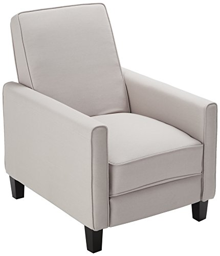 Best Selling Davis Recliner Club Chair, Grey Adult Club Glider Ottoman