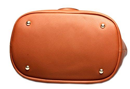 Handbags Buckets Blue Shoulder Fashion Ladies Large Capacity Layer Women 2017 Ghlee Top Bag Genuine Leather 4076CqPnx
