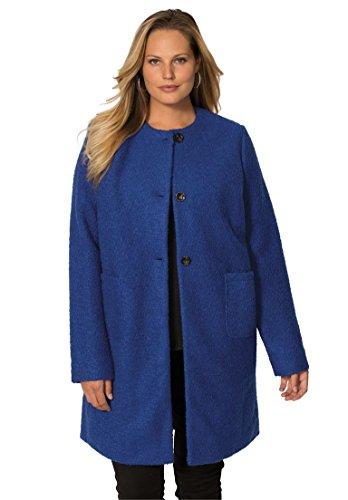 Jessica-London-Womens-Plus-Size-Collarless-Boucle-Coat