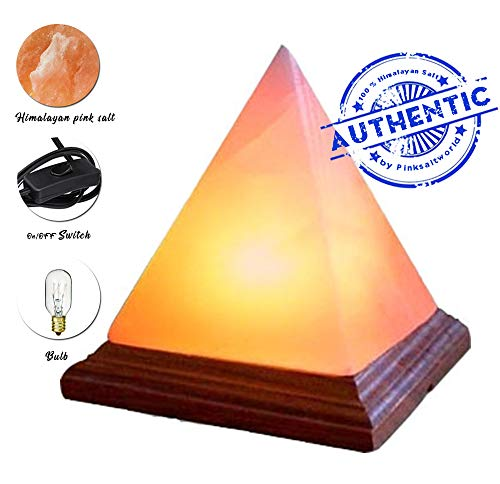 - A-STAR(TM) Natural Himalayan Hand Carved Salt Lamp - Pyramid Shape 7-9 Inches