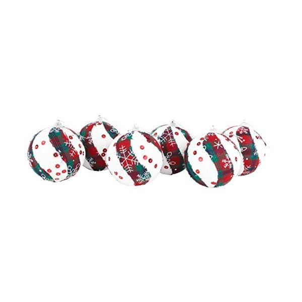 Christmas Concepts® Confezione da 6 Palline di Natale in Design Scozzese - Decorazioni Natalizie di Lusso (Fiocco di Neve) 1 spesavip