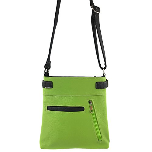 Justin Carry West Concealed Cross Messenger Purse Handbag Bling Zipper Rhinestone Greenery Crystal Body Pastel qrqEpfwn