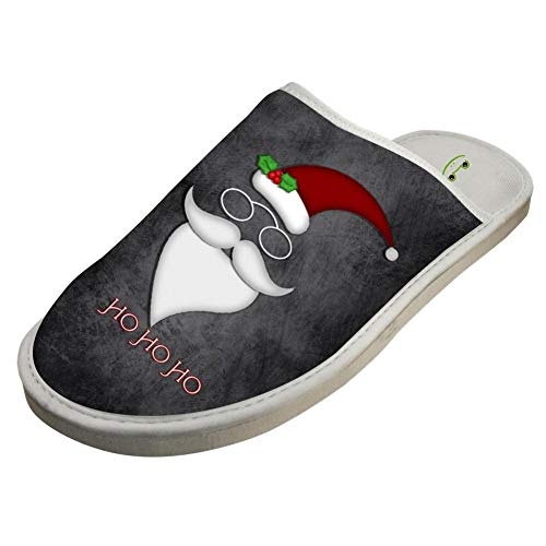 Santa Claus Make up Snowman Lovers Customizable Soft Winter Warm Home Slippers Indoor Slip Shoes 8 B(M) US