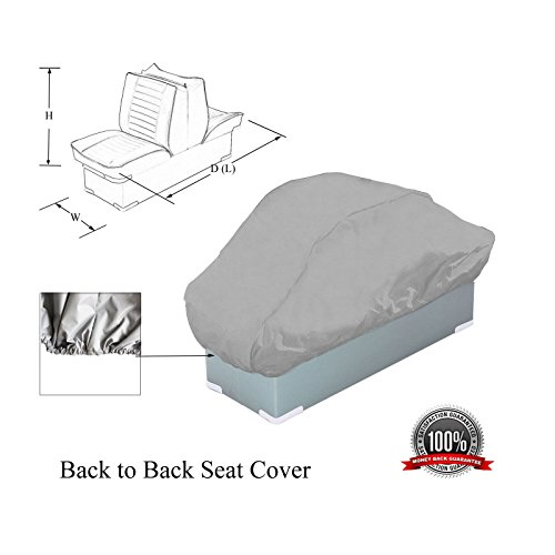 SavvyCraft Waterproof Back to Back Boat Seat Cover 50
