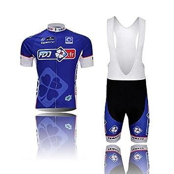 fa85b8a68 MONTONNEW 2014 NEW FDJ.fr Cycling Jersey Set Short Sleeve Jersey Tenacious  Life perspiration