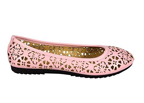 Scarpe Da Donna Artigianali Color Chelsea Con Taglio Laser Alluncinetto, Scarpe Alluncinetto, Rosa