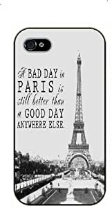 diy phone caseipod touch 5 A bad day in Paris is still better than a good day anywhere else. Vintage Eiffel Tower - black plastic case / Paris, Francediy phone case