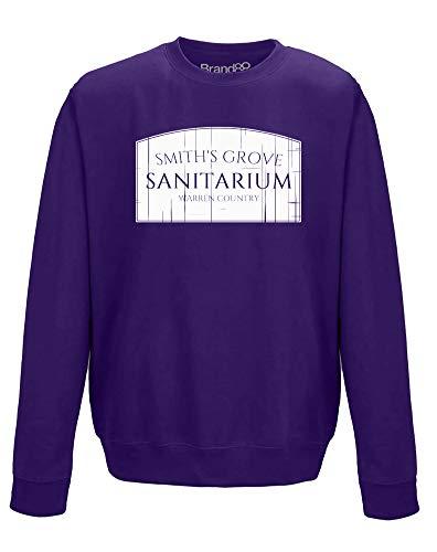 Smith's Grove Sanitarium, Adults Sweatshirt - Purple/White XL ()