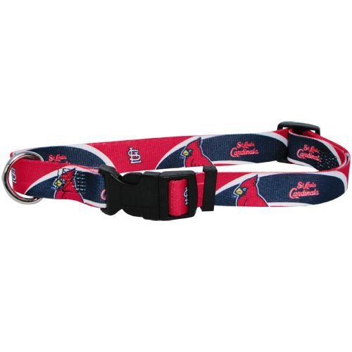 St. Louis Cardinals Pet Dog Adjustable Collar All Sizes (Large)