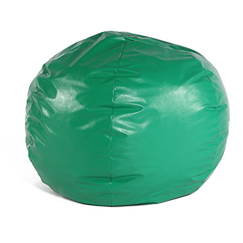 Green Vinyl Bean Bag (Foamnasium 1105 Big Wacky Sack, Green, Large)