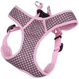 Animal Supply Company CO63807 Comfort Soft Sport Wrap Adjustable Harness - Grey & Pink