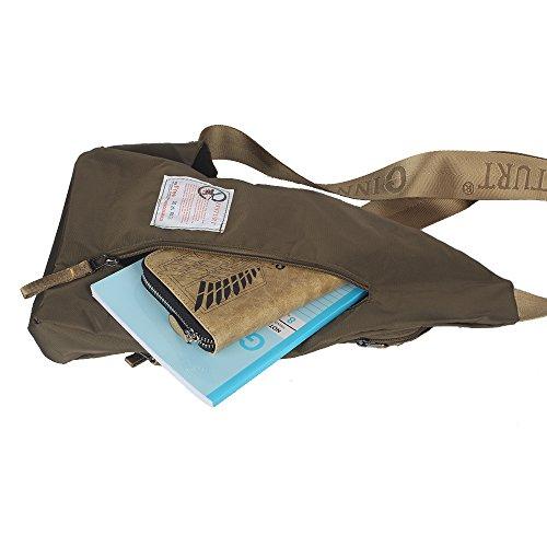 Innturt Nylon Sling Bag Daypack Travel Gym Backpack (S1-Army Green) by Innturt (Image #6)