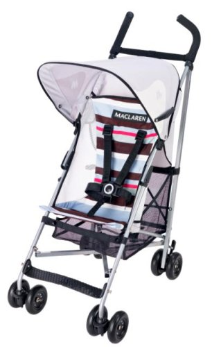 Maclaren Volo Stroller Coffee Brown And Stripe Discontinued By Manufacturer