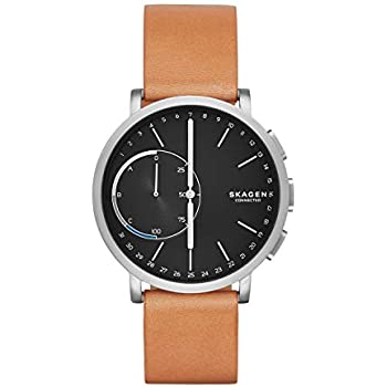 Amazon Com Skagen Connected Men S Hagen Titanium And Leather Hybrid
