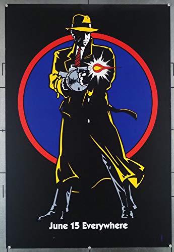 Dick Tracy (1990) Original Dated Mylar Advance One Sheet Poster (27x41) Mylar Near Mint WARREN BEATTY MADONNA AL PACINO Art by JOHNNY KWAN Film Directed by WARREN BEATTY Very Fine Plus to Near Mint