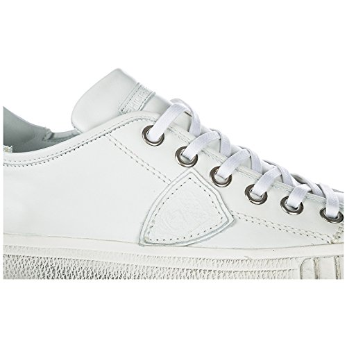 Chaussures Cuir Philippe Homme Sneakers Model Baskets Blanc Gare En HYqY5Zw