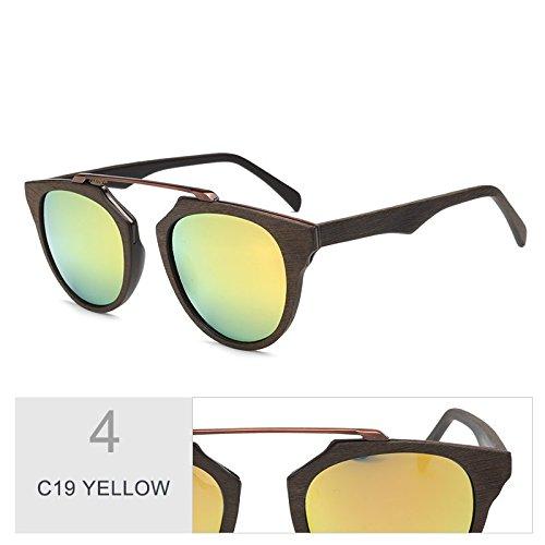 YELLOW Madera C86 Con Retro Acetato Gafas TIANLIANG04 De De De Polarizadas Violeta Sol Gafas C19 Placa Protección Gafas Unisex Sol Veta La Sol De Uv400 De BnBqx64t