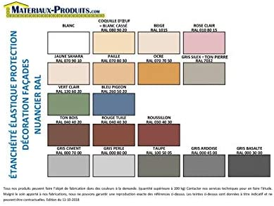 Peinture /étanche /& /élastique pour protection fa/çade 2.5 Kg Beige