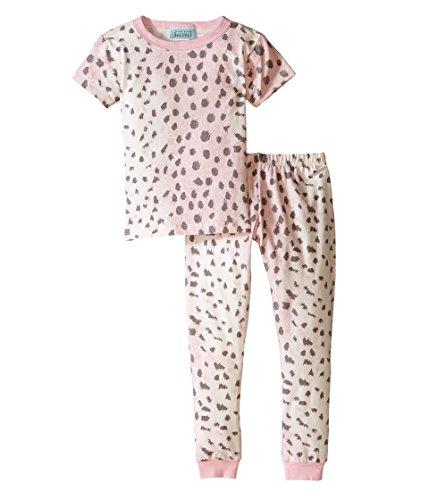 BedHead Kids Girl's Short Sleeve Long Bottom Pajama Set (Toddler/Little Kids) Pink Royal Animal Pajama Set 6 (Little Kids)