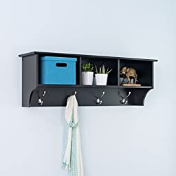 Prepac Entryway Cubbie Shelf, Black