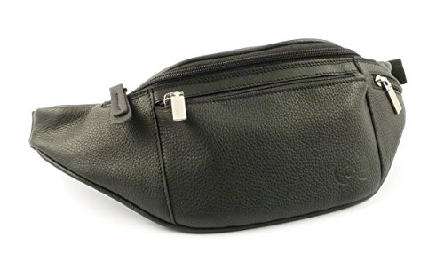 Waist bag in leather Emporio Cattani Black Made in Italy