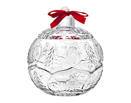 (Godinger Holiday Christmas Ornament Chrystal Covered Trinket Holder,)