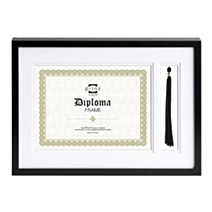 Prinz Matted Graduation Frame in Black Finish with Tassel Holder, 11 by 8.5-Inch