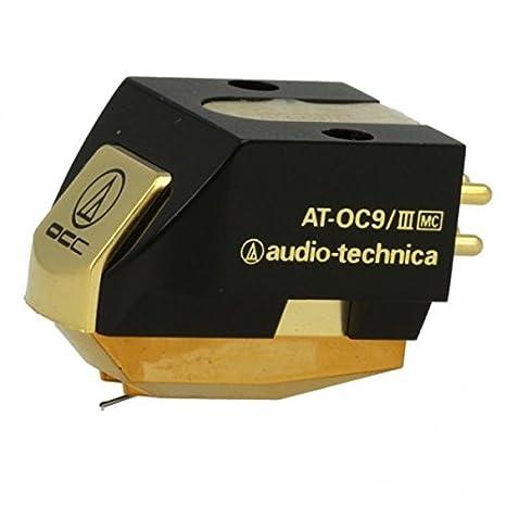 Audio-Technica AT-OC9/III Negro, Oro Cartucho de DJ y Aguja ...