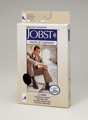Jobst for Men Knee High Compression Socks - 30-40mmHg - Navy - Medium Tall - 115258