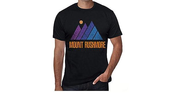 One in the City Hombre Camiseta Vintage T-Shirt Gráfico Mountain Mount Rushmore Negro Profundo: Amazon.es: Ropa y accesorios