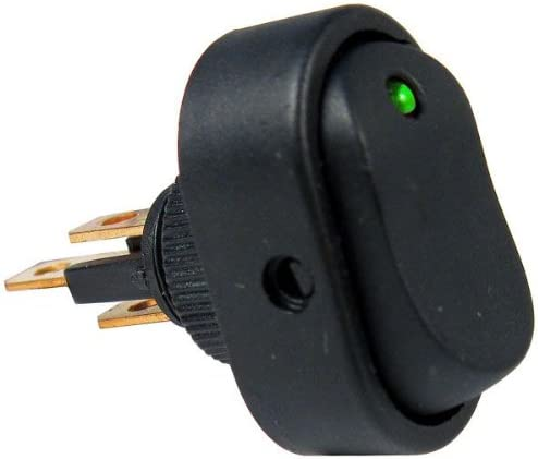 1x Green LED Oval Rocker Toggle Switch SPST ON//OFF 12V DC 16 Amp Car Boat