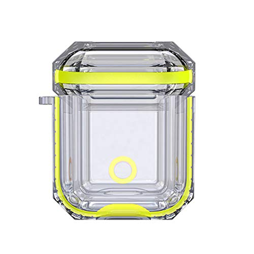 TOTGO Case Compatible with Airpods 1, New Soft Silicone Shock Proof Impact Resistant Elastomers Protective Ultra Lightweight Anti-Scratch Accessories Case Cover for Airpods 1 (Yellow)