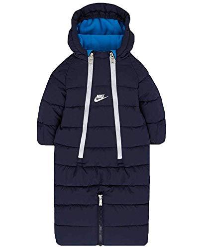 Nike Infant/Toddler Sportswear Convertible Snowsuit Jacket Navy Blue/White (3-6 Months) (Nike Snow Jacket)