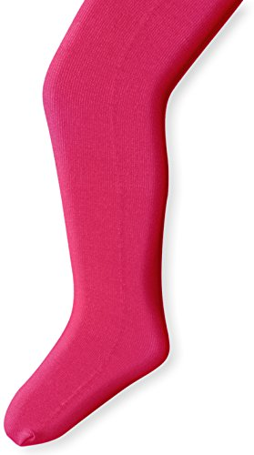 Country Kids Baby Girls' Pima Cotton Tights 1 Pair, Hot Pink, 12 24 Months (Pink Tights Baby)